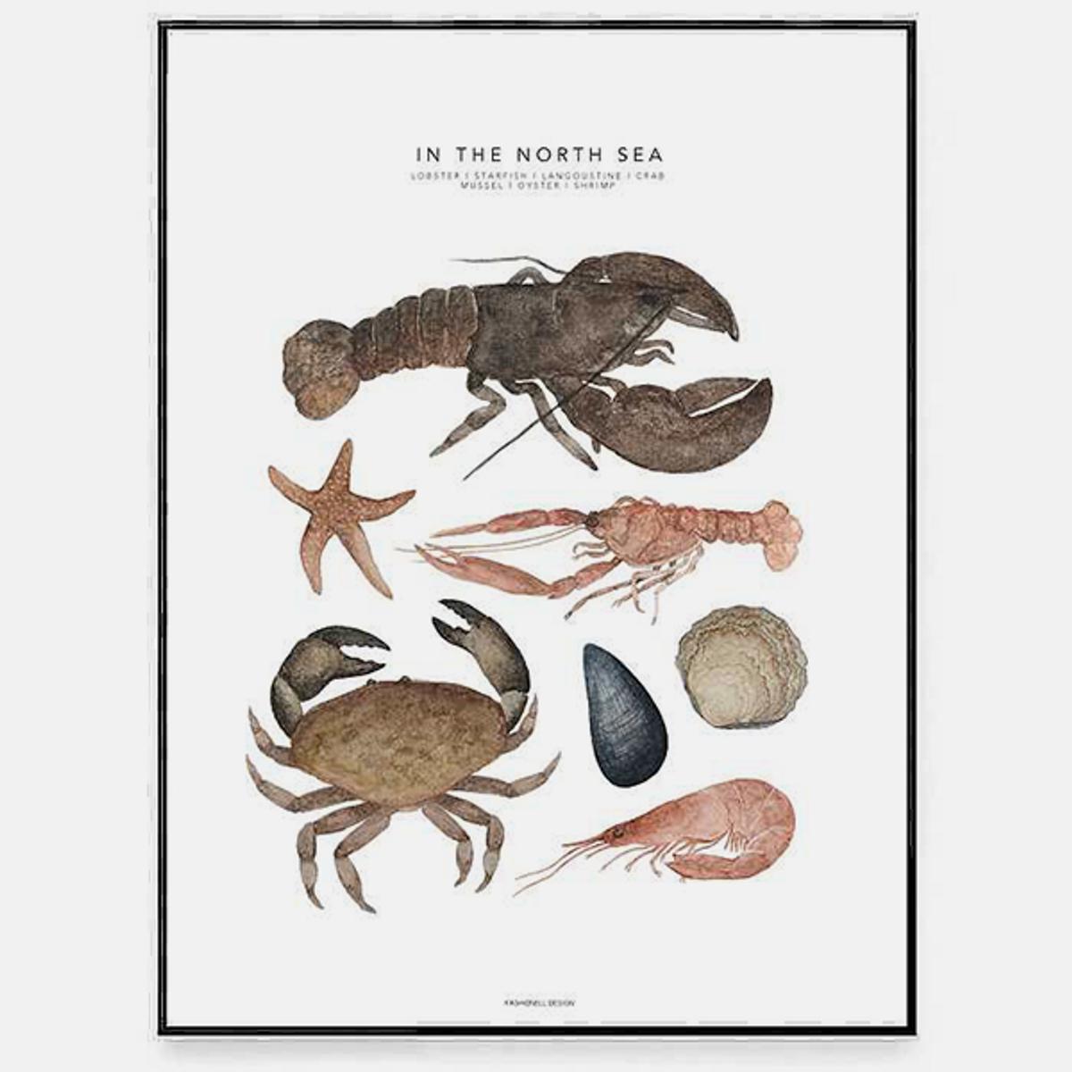 Poster In The North Sea 40x50cm
