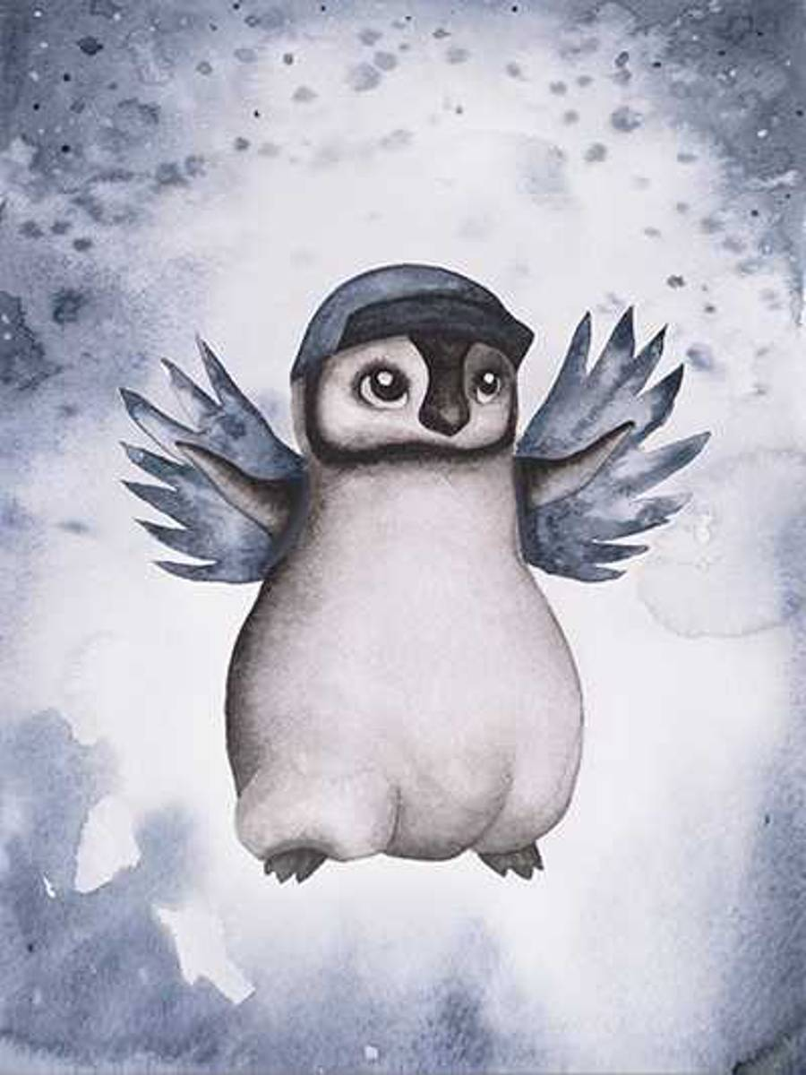 Poster Pingvinen Penny 30x40cm
